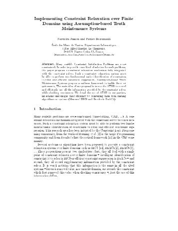 Implementing Constraint Relaxation over Finite Domains using ...