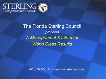 The Florida Sterling Council