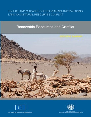 Renewable Resources and Conflict - Disasters and Conflicts - UNEP