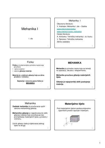 mehanika 1 statika zadaci pdf