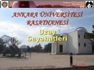 Uzay Seyahatleri - Ankara Üniversitesi Gözlemevi