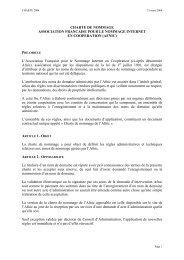 Charte de nommage .fr - Afnic