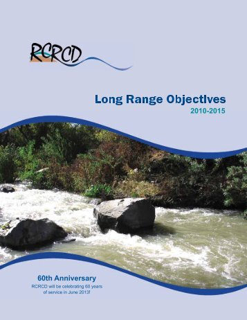 Long Range Objectives - Riverside-Corona Resource Conservation ...