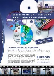 Wasserfeste CD's und DVD's - Eurebis AG