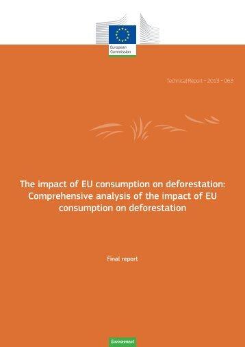 The impact of EU consumption on deforestation - European ...