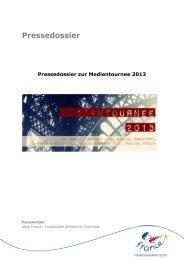 Pressedossier zur Medientournee 2013 - DE Media