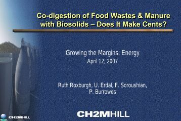 Recent Experiences in Designing and Implementing Co-digestion ...