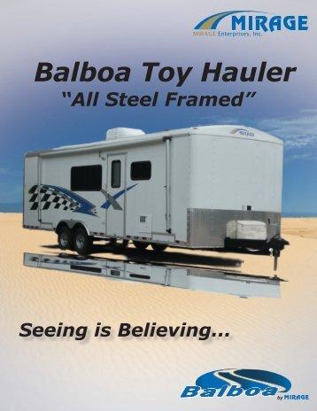 Balboa Toy Hauler - Rvguidebook.com