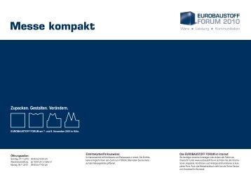 Messe kompakt - Eurobaustoff-Forum