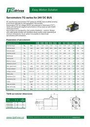 Catalog sheets in English - TG Drives