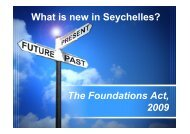 What is new in Seychelles? The Foundations Act, 2009 - Intax Info