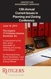 Current Issues in Planning and Zoning Conference - Center for ...