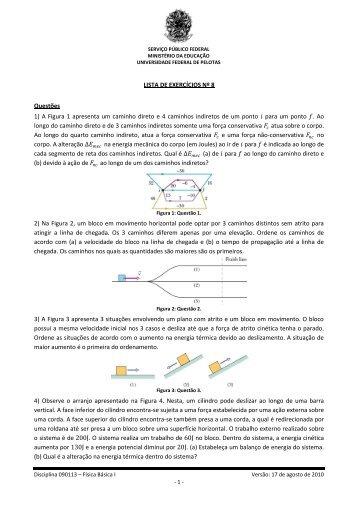 Lista de Exercícios Nº 8 - Chasqueweb.ufrgs.br