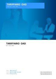 TARIFFARIO OAD TARIFFARIO OAD - SRO Treuhand Suisse