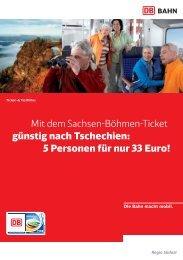 Mit dem Sachsen-Böhmen-Ticket günstig nach Tschechien - Bahn.de