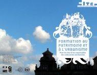 Brochure formation au patrimoine et à l'urbanisme - Cité de l ...
