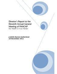 Directors Report - PANCAP- Pan Caribbean Partnership against HIV ...