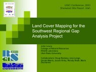 Land Cover Mapping for the Southwest Regional Gap Analysis Project