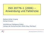 ISO 20776-1 (2006) – Anwendung und Fallstricke - PEG-Symposien