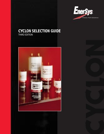 CYCLON SELECTION GUIDE - EnerSys