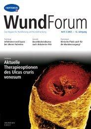 Aktuelle Therapieoptionen des Ulcus cruris venosum - Hartmann