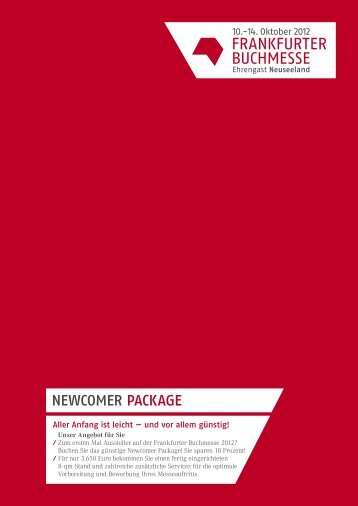newcomer package - Frankfurter Buchmesse