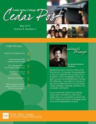 May 2010 Volume 9, Number 5 - Cedar Valley College