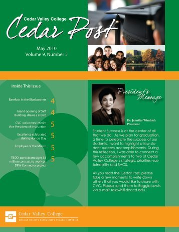 May 2010 Volume 9, Number 5 - Cedar Valley College
