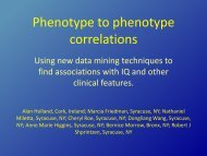 Phenotype to phenotype correlations