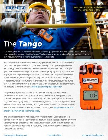 The Tango - Premier Safety & Services, Inc.