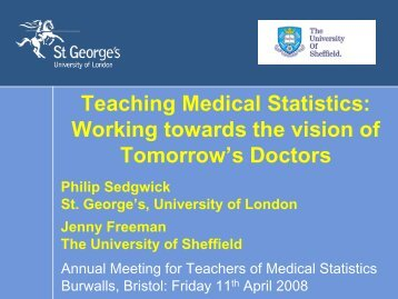 What is it really like to be a medical statistician? Philip Sedgwick