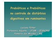 Probióticos e Prebióticos no controle de distúrbios ... - SOVERGS