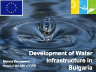 Development of Water Infrastructure in Bulgaria Malina Kroumova