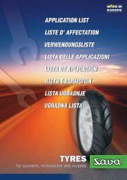 Application list - tyres for scooters, motorcycles and ... - Savatech