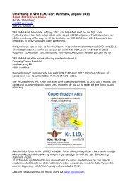 Ombytning af VFR ICAO-kort Danmark, udgave 2011 - DMU - Dansk ...