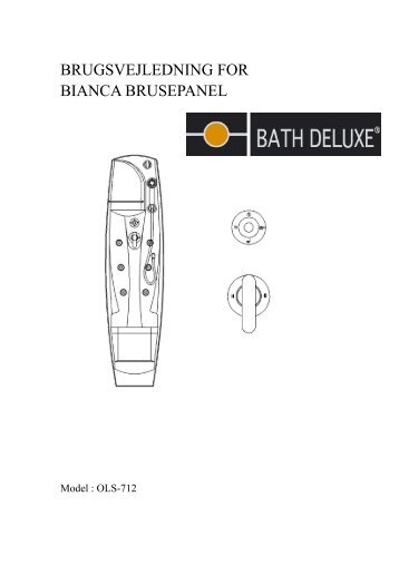 BRUGSVEJLEDNING FOR BIANCA BRUSEPANEL - Bath Deluxe