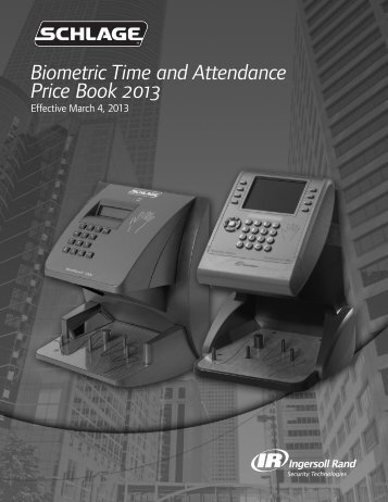 SCH BIOMETRIC 2013 PRICE BOOK.pdf - Access Hardware Supply