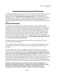 Packaged Software RFP Template - Service Alberta - Government of ...