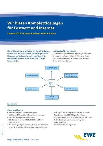 Wir bieten Komplettlösungen für Festnetz und Internet