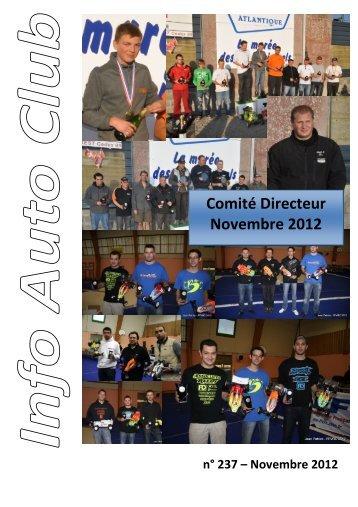 Comité Directeur Novembre 2012 - FVRC