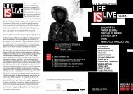 Life is Live – Musik, Diskurs, Performance - hebbel am ufer