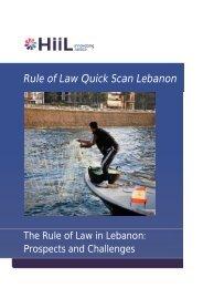 Rule of Law Quick Scan Lebanon - HiiL