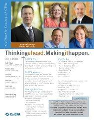 Thinkingahead.Makingithappen. - California Society of CPAs