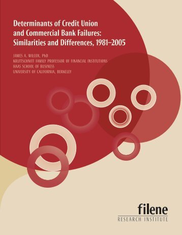 Determinants of Credit Union and Commercial Bank Failures ...