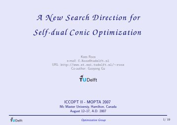 A New Search Direction for Self-dual Conic Optimization
