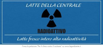 Latte fresco intero alta radioattività LATTE DELLA ... - Legambiente