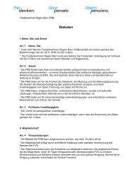 Sektionsstatuten FRB - Freidenker-Vereinigung der Schweiz