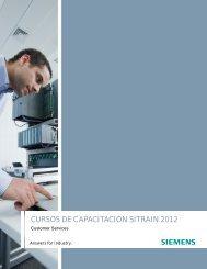 CURSOS DE CAPACITACIÓN SITRAIN 2012 - Industria de Siemens
