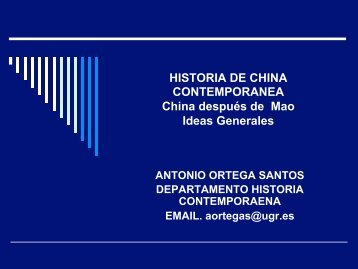 ideas generales post mao - Historia Contemporánea