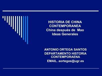 ideas generales post mao - Historia Contemporánea
